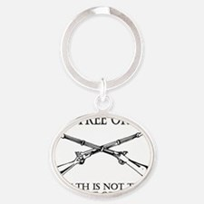 Live Free or Die_shirt Oval Keychain