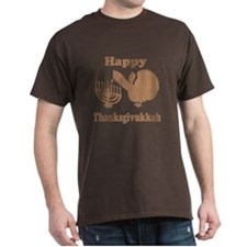 Happy Thanksukkah 3 brown T-Shirt