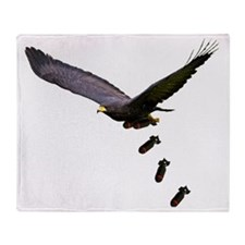 Black Hawk Bombing Run (Dropping Bom Throw Blanket