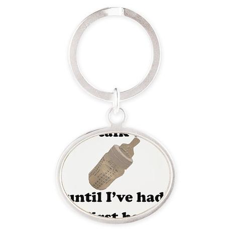 DontTalkToMe Oval Keychain