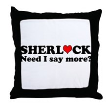 Loving Sherlock Throw Pillow