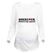 Loving Sherlock Long Sleeve Maternity T-Shirt