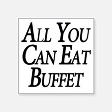 "Buffet Square Sticker 3"" x 3"""
