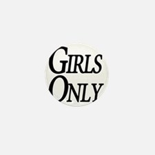 Girls Only Mini Button