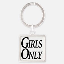 Girls Only Square Keychain