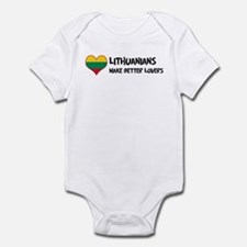 Lithuania - better lovers Infant Bodysuit