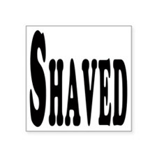 "Shaved Square Sticker 3"" x 3"""