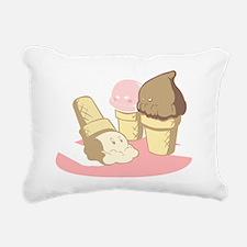 ice cream Rectangular Canvas Pillow