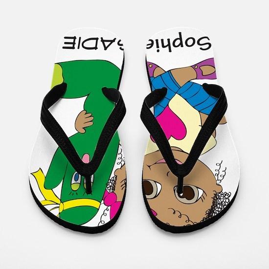 Sophie and Sadie sitting together Flip Flops