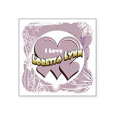 "LorettaLynn 12x12.gif Square Sticker 3"" x 3"""