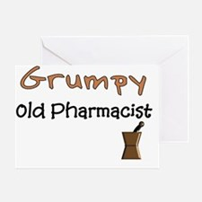 Grumpy old pharmacist Greeting Card