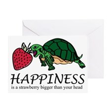 Happiness is (turtle/strawberry) Greeting Card