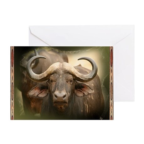 African Cape Buffalo Greeting Card