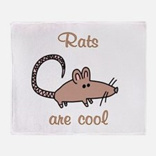 Rats are Cool Throw Blanket