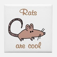 Rats are Cool Tile Coaster