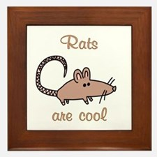 Rats are Cool Framed Tile