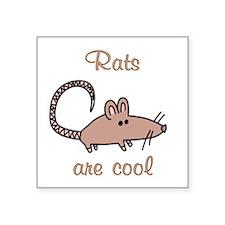 "Rats are Cool Square Sticker 3"" x 3"""