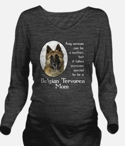 Belgian Tervuren Long Sleeve Maternity T-Shirt