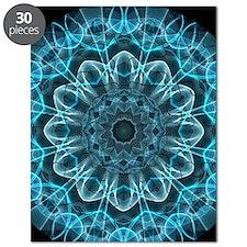Iceblue bliss kaleidoscope Puzzle