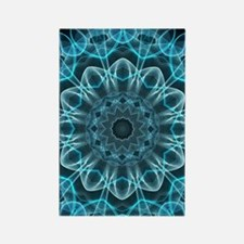 Iceblue bliss kaleidoscope Rectangle Magnet