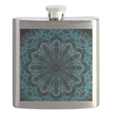 Iceblue bliss kaleidoscope Flask