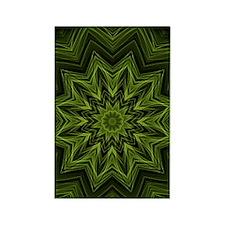 woven jungle leaves kaleido Rectangle Magnet