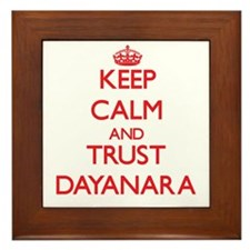 Keep Calm and TRUST Dayanara Framed Tile