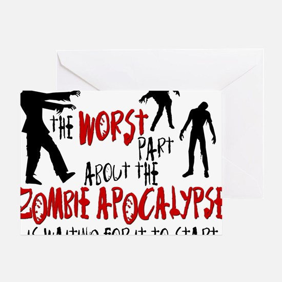 worst zombie Greeting Card