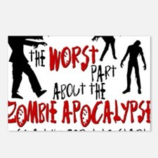 worst zombie Postcards (Package of 8)