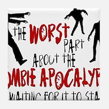worst zombie Tile Coaster