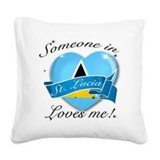 St. Lucia Square Canvas Pillow
