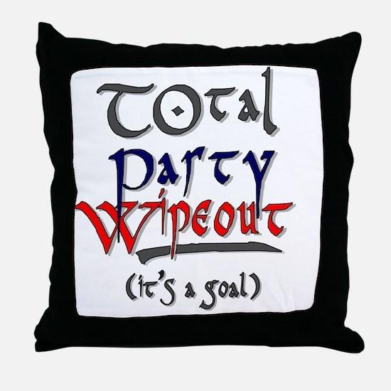 TotalPartyWipeout Throw Pillow