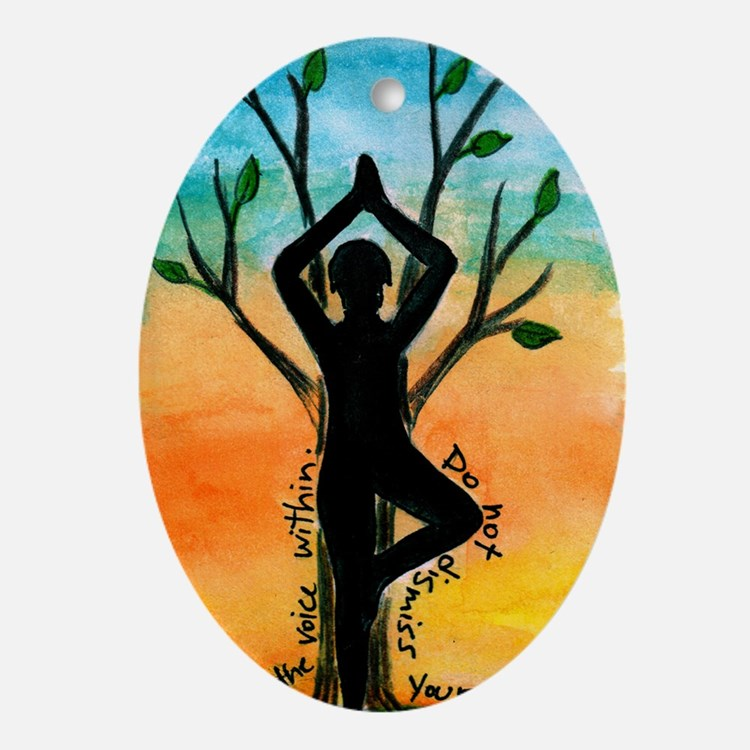 Yoga Oval Ornament