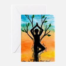 Yoga Greeting Card