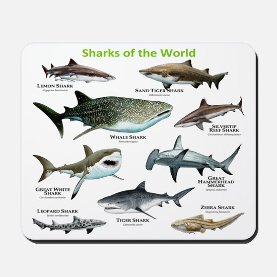 Sharks of the World Mousepad
