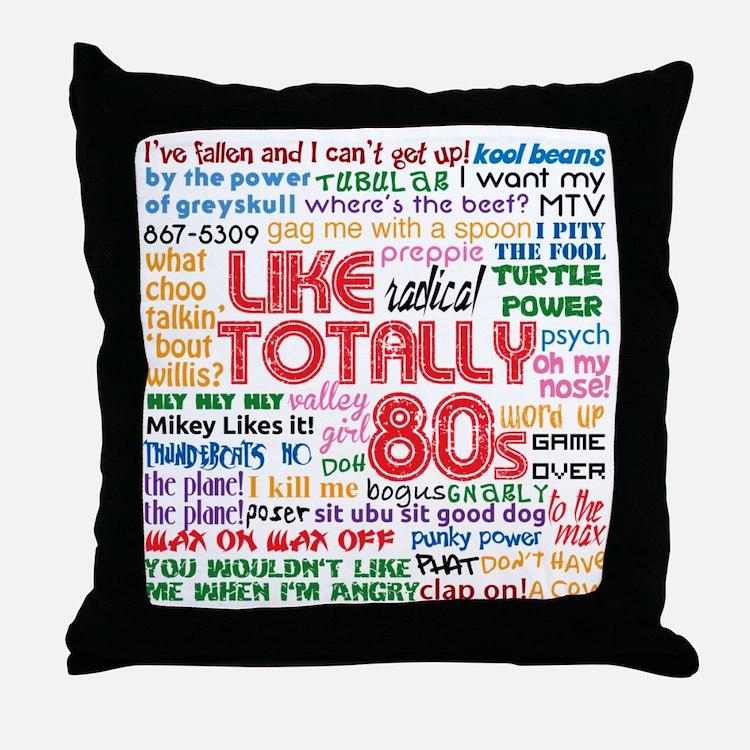 like totally 80s transparent bg Throw Pillow