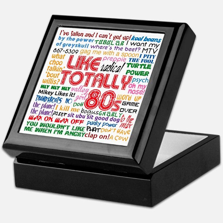 like totally 80s transparent bg Keepsake Box