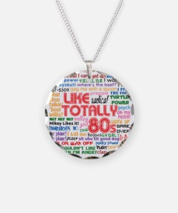 like totally 80s transparent Necklace