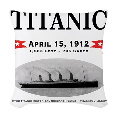 TG2 Ghost Boat 12x12-b Woven Throw Pillow