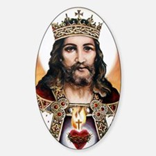 Christtheking Sticker (Oval)