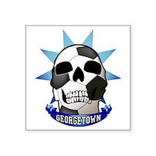 "SoccerSkull Square Sticker 3"" x 3"""