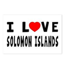 I Love Solomon Islands Postcards (Package of 8)