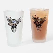 Celtic Rock Black Drinking Glass