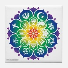 Religions_Mandala_10x10_apparel Tile Coaster