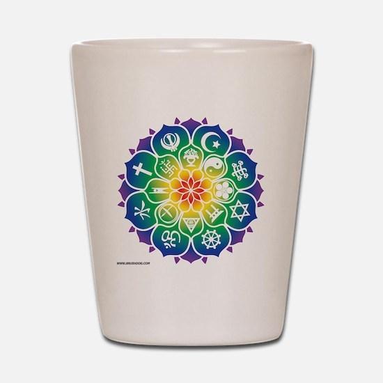Religions_Mandala_10x10_apparel Shot Glass