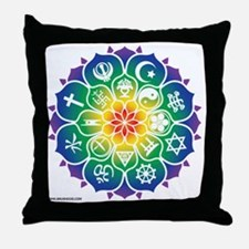 Religions_Mandala_10x10_apparel Throw Pillow