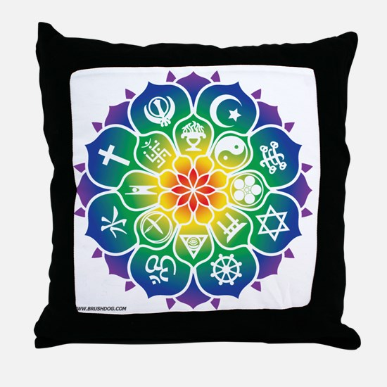 Religions_Mandala_10x10_apparel Throw Pillow