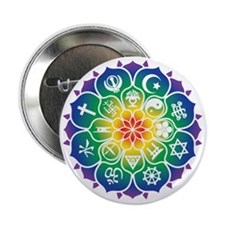 "Religions_Mandala_10x10_apparel 2.25"" Button"