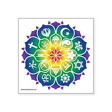 "Religions_Mandala_10x10_app Square Sticker 3"" x 3"""