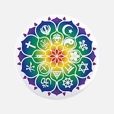 "Religions_Mandala_10x10_apparel 3.5"" Button"